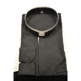 Camisa de sacerdote de cuello romano y manga larga