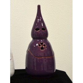 Incensario de cerámica morado